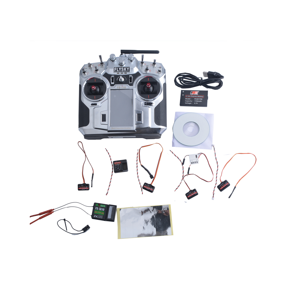 Original FlySky FS-i10 2.4g Transmitter FS-IA10 10 Channel Receiver Rc Replacement Accessories