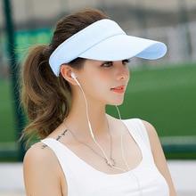 SORRYNAM Visor Sombrero Sombrero de la Marca de Sun de Las Mujeres de Verano Gorras de Béisbol Tamaño Ajustable Gorros Viseira Playa Vacía Tapa Superior MZ1740