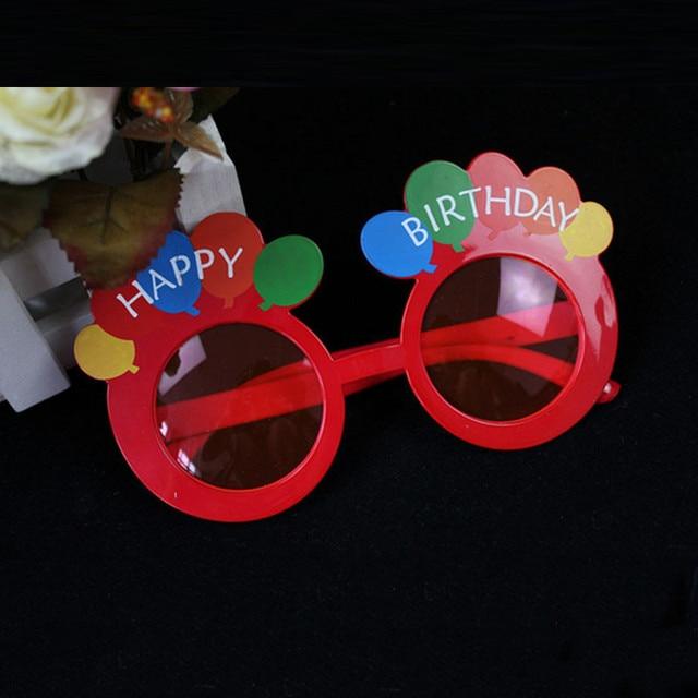 62642ef2ef9c Fun Happy Birthday Eyeglasses Frames for Adult Kids Photo Props Eyewear  Birthday Party Favors Gift Christmas Halloween