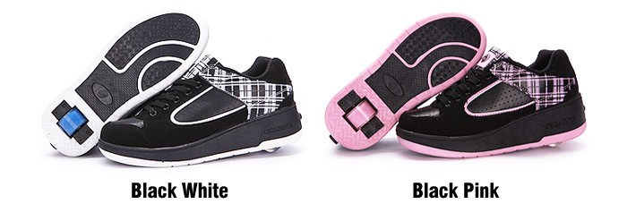 New Fasion Children Shoes With Wheels Girls Boys Roller Skate Shoes For Kids Sneakers With Wheels Wheelies Shoes Eu Size 29-40 DTW001 (2)