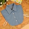 2016 New Arrival Denim falso colar cor sólida destacável decoração Shirt coleiras para mulheres, Sp084