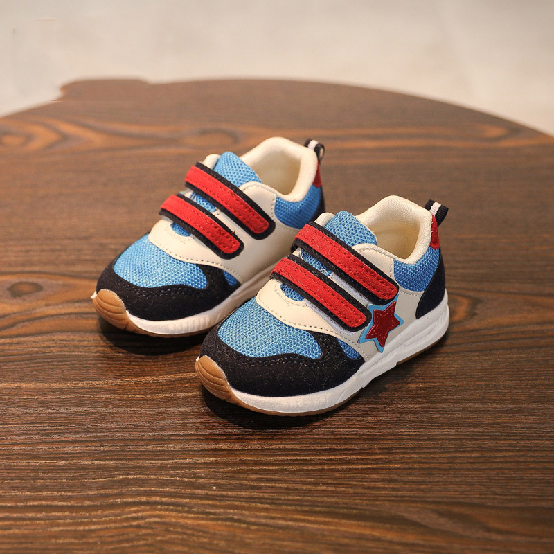 все цены на 2018 European sports running breathable children casual shoes Hook&Loop fashion girls boys sneakers high quality kids footwear онлайн
