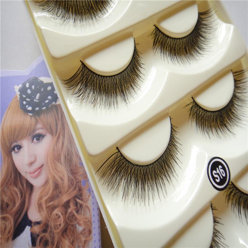 2015 Limited Rushed Mink font b Eyelashes b font Beauty 5 Pairs Extra Long Cross Natural