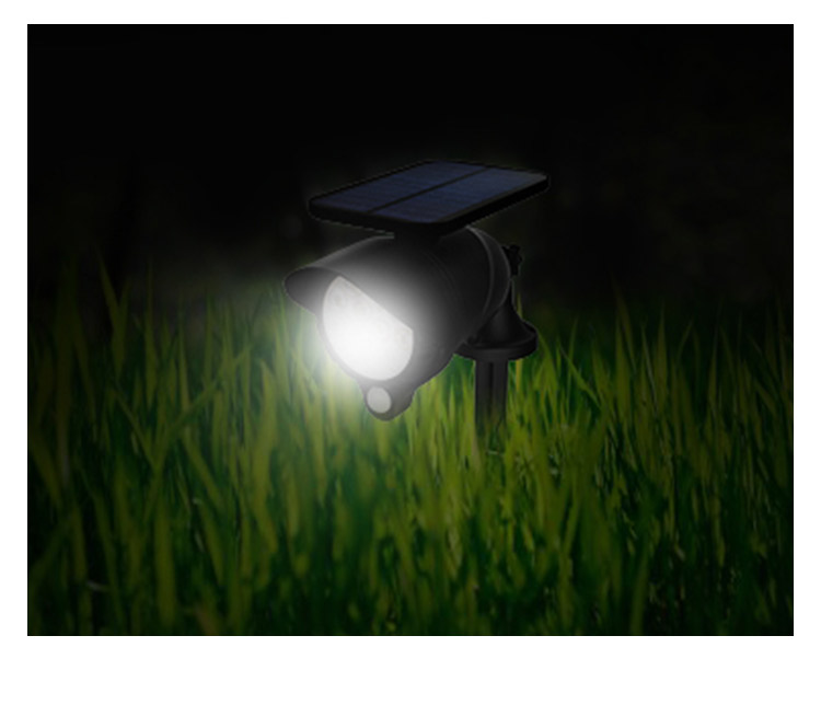 Wall Installation Solar Spot Flood Light Three Mode LED Light with Automatic Light Sensor & Automatic Human Sensor Energy Saving_F10