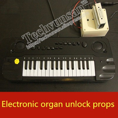 Takagism adventure game real life secret room escape room props Mysterious electronic organ Play the piano Music-in Party Favors from Home & Garden    1