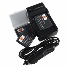 DSTE 3PCS NP-BK1 NPBK1 Battery Case Protector + Travel and Car Charger for Sony DSC-S750 DSC-S780 DSC-S850 DSC-950 DSC-980 W180