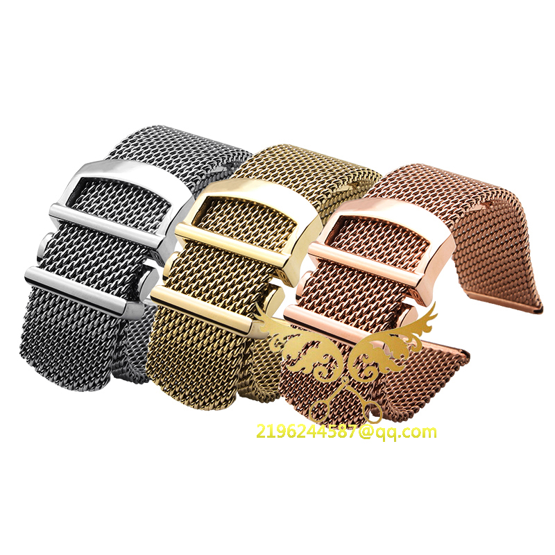 New Best Quality 20mm Silver Stainless Steel Watch Band Strap Bracelets Polished Deployment Clasp Buckle For BRAND IW356505