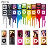 Smilyou Venta Caliente Delgado MP3 MP4 Reproductor de Música de 1.8 pulgadas LCD 8 GB 16 GB 32 GB de Memoria Pantalla FM Radio Reproductor de Vídeo con Availabe