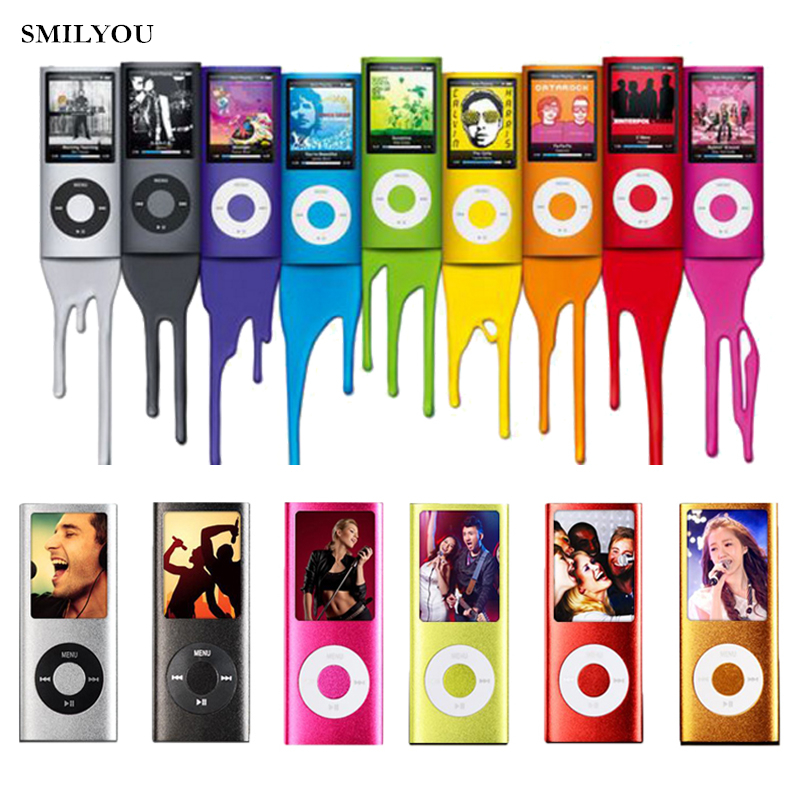 Smilyou Vendita calda Slim MP3 MP4 Music Player 1.8 pollici LCD 8 GB 16 GB 32 GB Memory Screen lettore video radio FM con Availabe