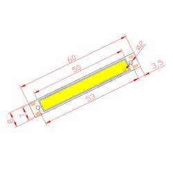 10 шт. 3 в 3,7 в DC 60 мм 8 мм светодиодный COB лента 1,5 Вт 300мА 100лм Теплый Холодный белый синий красный COB Светодиодный модуль источника света для DIY р...