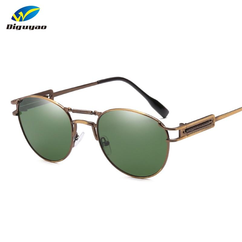 371d055092277 DIGUYAO Moda Marca Designer Homens Mulheres Óculos De Sol Clássico Oval  Retro Steampunk Shades óculos de