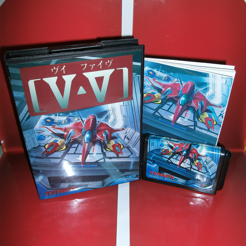 MD games card V V or GRIND Stormer Japan Cover with Box and Manual for MD