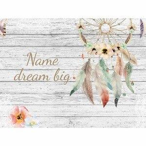 Image 3 - Allenjoy hintergrund weiß holz bord hintergrund mit dreamcatcher blumen Böhmischen stil persönliche design fonds fotografie