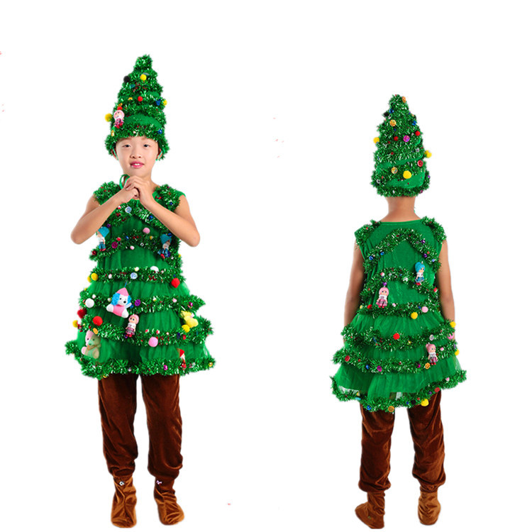 Toddler Christmas Tree Costume.Us 16 91 15 Off Children Christmas Tree Cosplay Costumes Green Trees Adult Party Wear Shrubs Halloween Costume For Kids On Aliexpress Com Alibaba