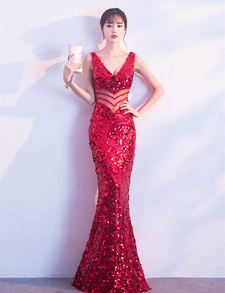... JaneVini Sexy Bling Rose Gold Sequins Bridesmaid Dresses Long Mermaid  Shiny Wedding Guest Dress V Neck ... 413027a6a9f1