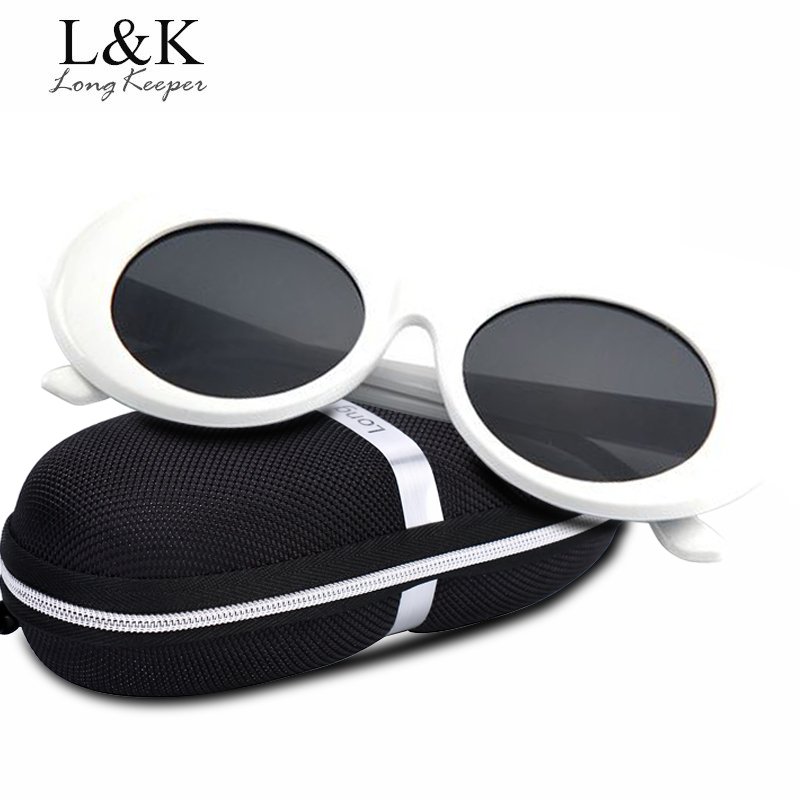 Long Keeper Women Oval Sunglasses NIRVANA Kurt Cobain Sunglasses Men Driving Eyewears UV400 Protection Ladies Glasses With Case