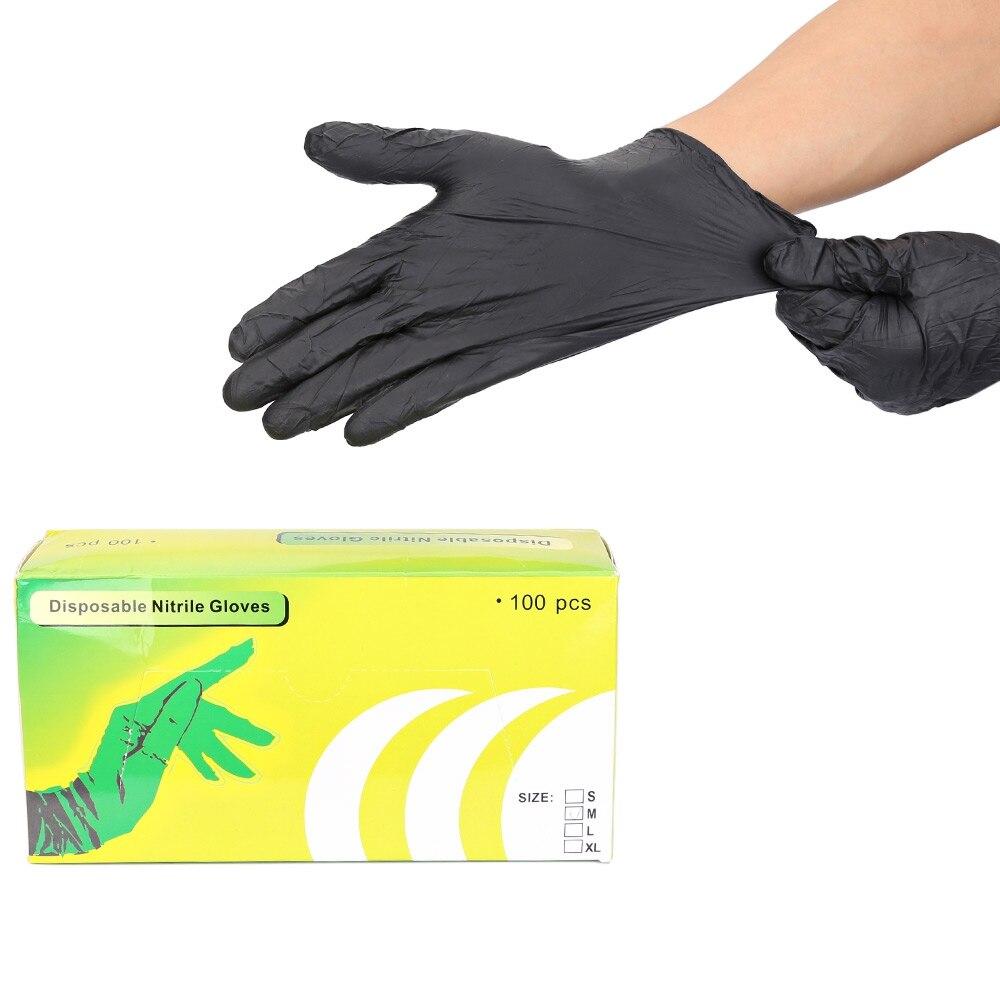 Black latex gloves xl - 100pcs Small Latex Tattoo Gloves Disposable Soft Black Medical Nitrile Sterile Tattoo Gloves Tattoo Accessories Free