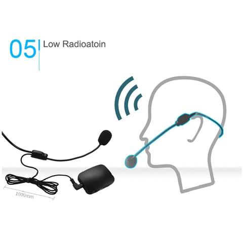 Microfones Transmissor de Rádio Fone de Ouvido Guia de