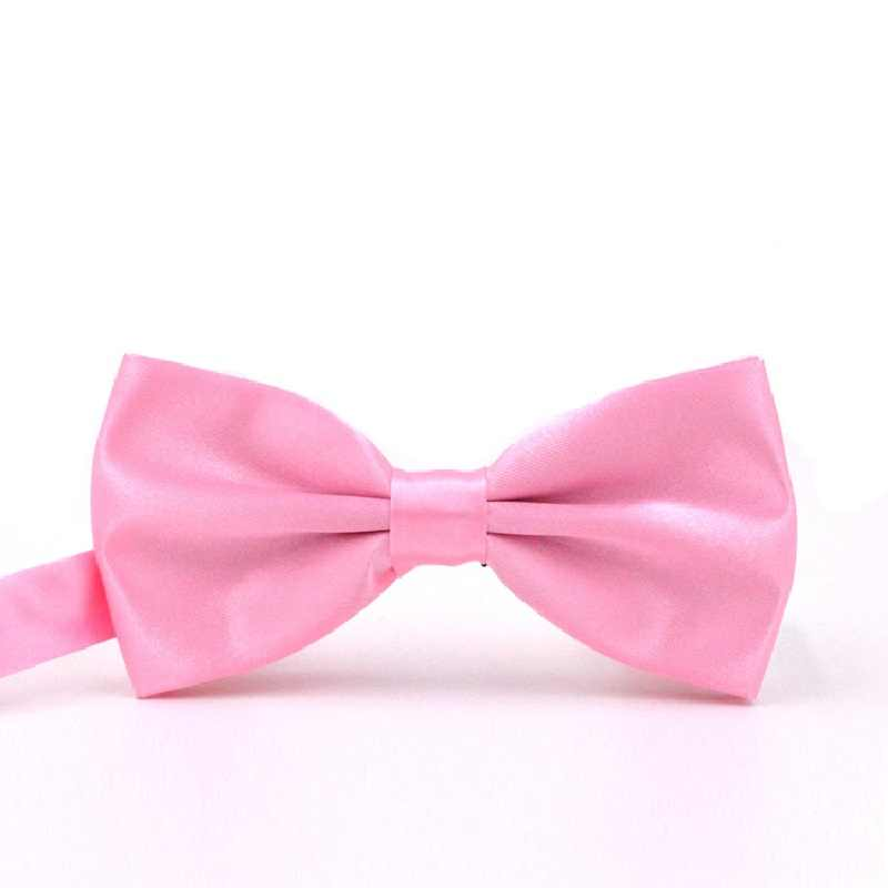 2019 Borgogna Pretied Arco Cravatte per Gli Uomini Della Camicia di Modo di Bowtie Mariage Poliestere di colore Solido Farfalle Matrimonio cravatta Al Collo