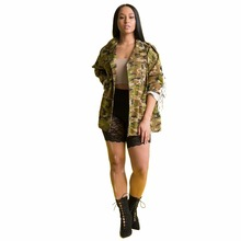 SexeMara/новые модные стильные с длинным рукавом Демисезонный кисточкой камуфляж армии куртка Dope High Street Стиль хорошее качество