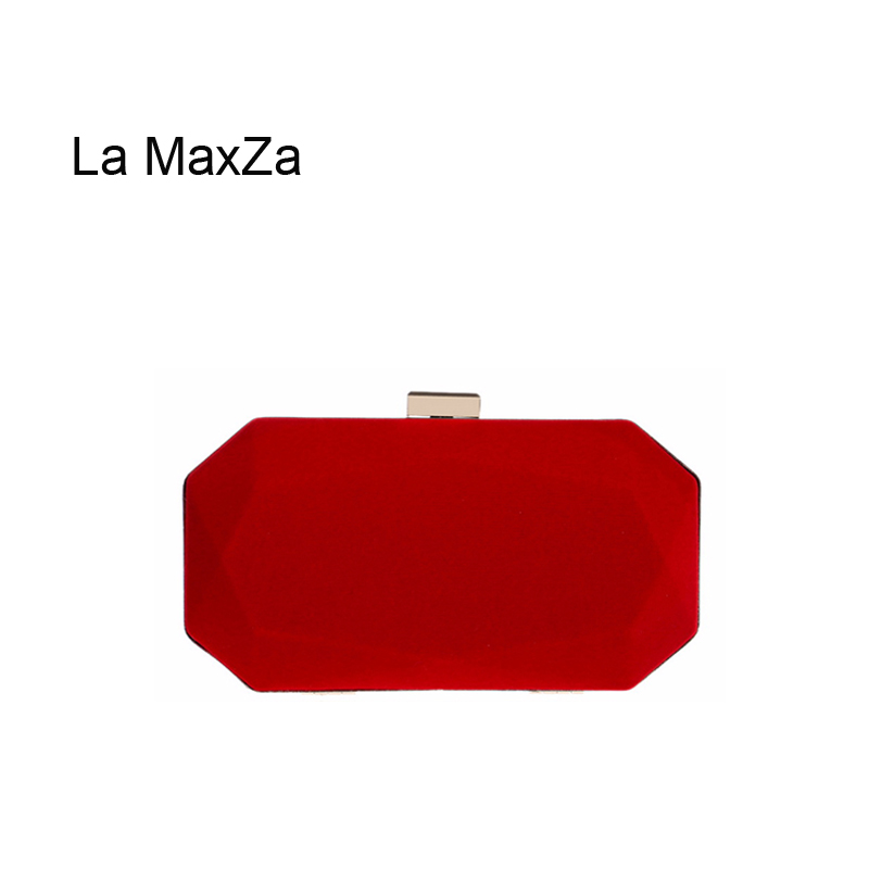 Purses Clutch-Bag Evening-Bags Party Small Cheap Fashion Womens Ladies La-Maxza Red