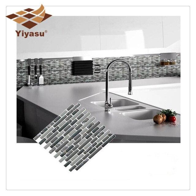 Self Adhesive Mosaic Tile Wall decal Sticker DIY Kitchen Bathroom Home Decor Vinyl K