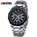 Curren Fashion Men's Business Watch Stainless Steel Sport Wristwatches Men's Water Resistant Watch, W8084