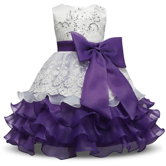 nacolleo Fast Baby Kid Prom Gown Layered Dresses Sleeveless