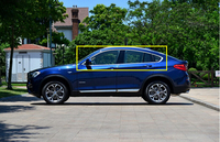 full window trims without center pillar window trim 10pcs For BMW X4 2014 2015