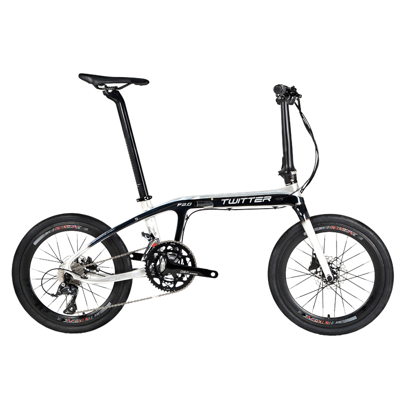 TWITTER BMX 20 inch Carbon Folding Bike Bicycle 16/18/22 Speed for 2400/R3000/RS700 Derailleur System