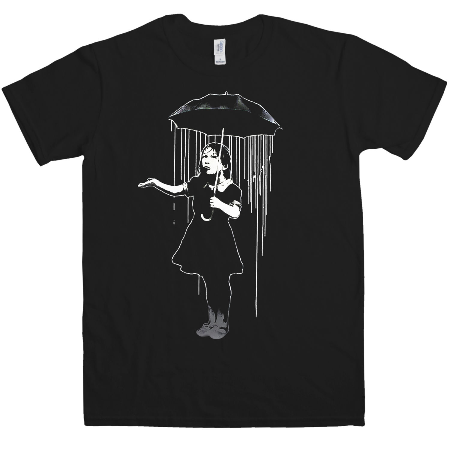 Mens T-Shirt Mens Banksy T Shirt - Nola Quality Print New Summer Style Cotton Short