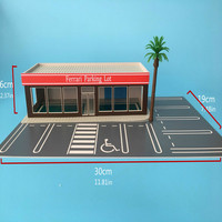 1/64 scale unlight Plastic Landscape model parking and architecture diorama ho train N scale railway layout