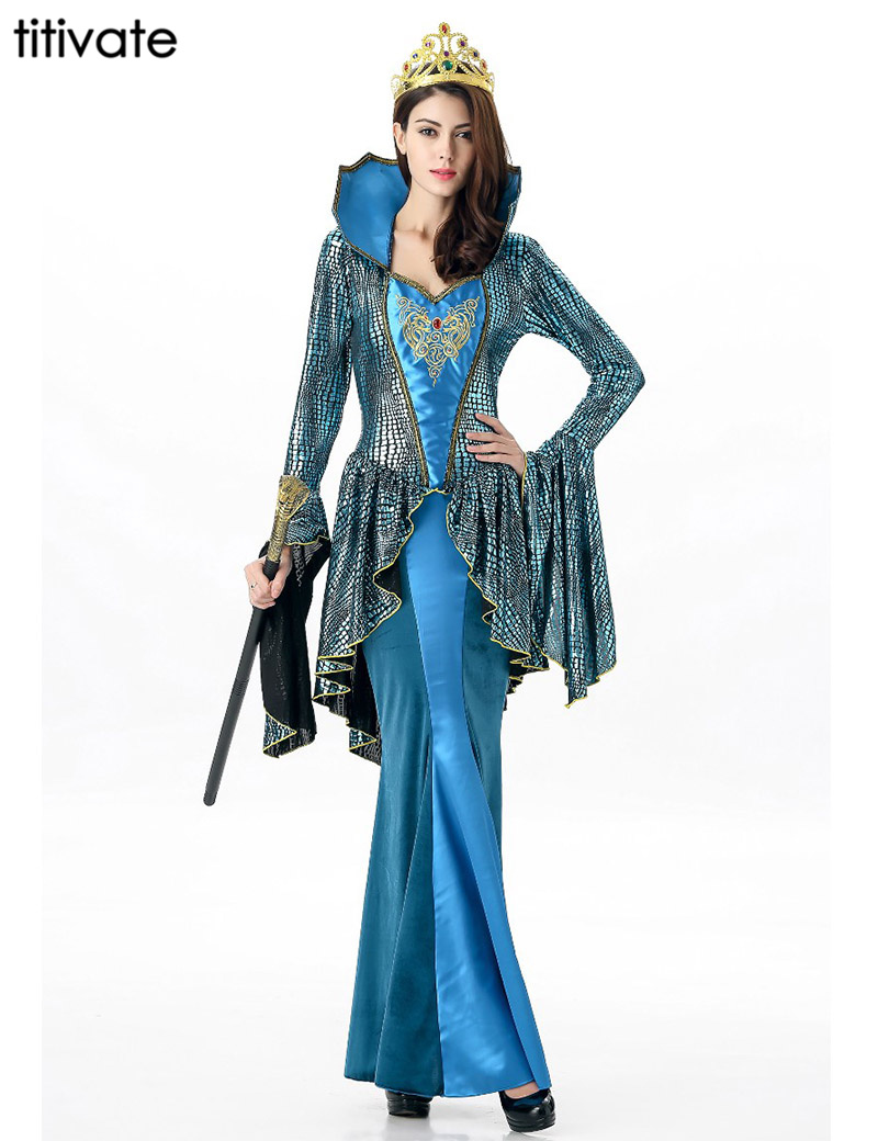 798e4ad6c060 Cheap TITIVATE Antiguo Egipto azul princesa disfraz Halloween Cosplay  carnaval fiesta ropa egipcio Cleopatra reina mujeres