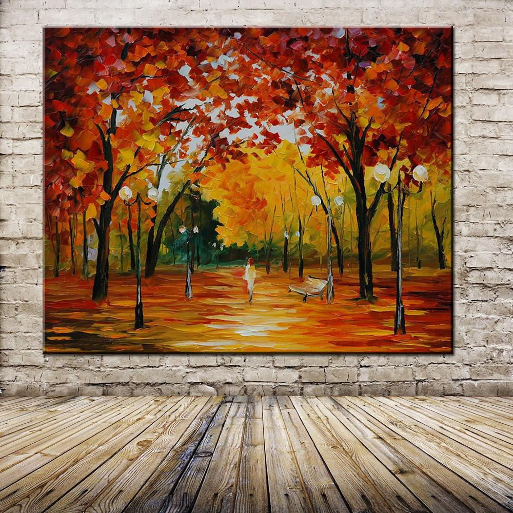 Hand Painted Abstract Oil Painting Palette Knife Thick Paint Bright In Colour Modern Home Canvas Living Room Decor Art Picture