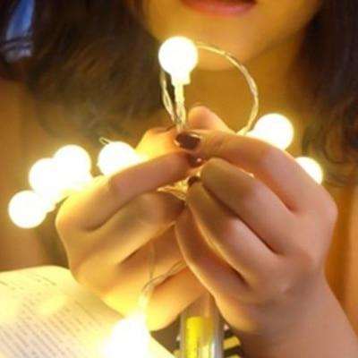 חם לבן סוללה מופעל מחרוזת אורות ליל כל - חגים ומסיבות