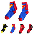 4 Par/lote 3-6 Años de Edad Los Niños Calcetines de la Historieta de Superman Spiderman Batman The Flash Diseño Niños Calcetines de Algodón Unisex niños Niñas