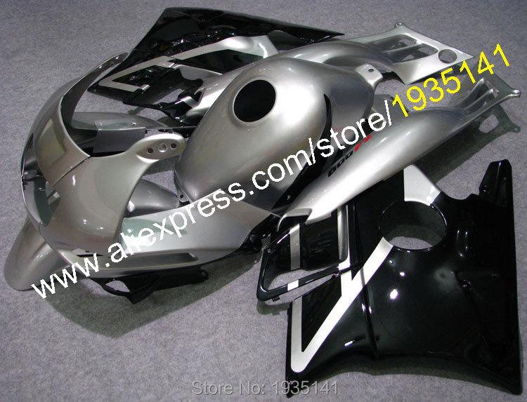 Горячие продаж,обвес для Honda CBR600 F2 в 1991-1994 ЦБР 600 Ф2 91 92 93 94 CBRF2 серебро черный ABS пластик мотоцикл обтекатель комплект