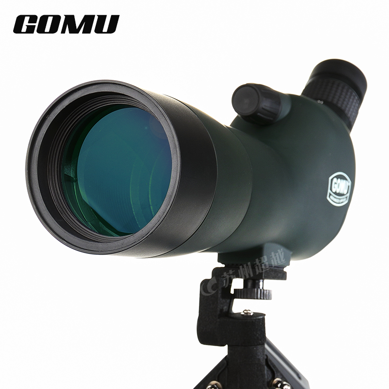 Brand New GOMU 20-60x60 AE Zoom High Quality Precision Spotting Scope Telescope With Metal Tripod(Non night vision) free shipping gomu waterproof angled 20 60x60 zoom spotting scopes telescope for bird watching tripod