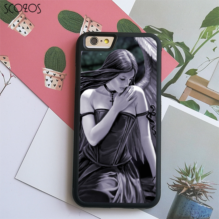 SCOZOS anne stokes (4) phone case cover for iphone X 4 4s 5 5s Se 5C 6 6s 7 8 6&6s plus 7 plus 8 plus#C6