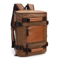 New Arrive Original Z.L.D Canvas Leather Men Travel Bags Duffel Bags Travel Tote Weekend Bag multi function Laptop Backpacks B3
