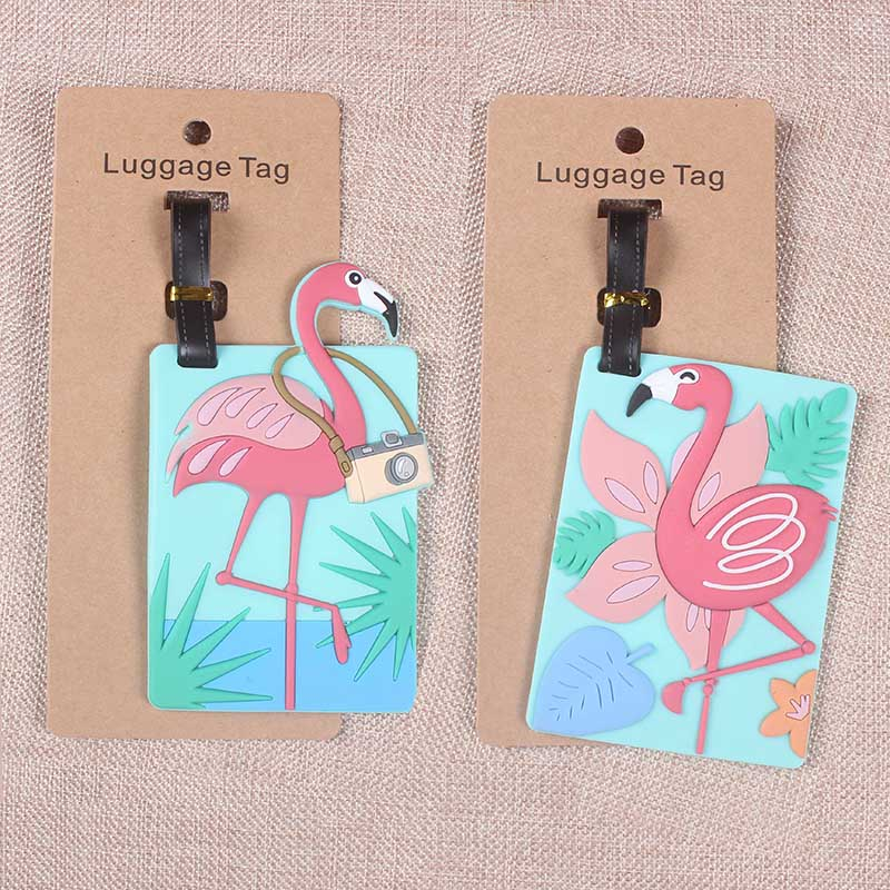 29 Style Travel Accessories Luggage Tag Creative Flamingo Suitcase Fashion Style Silicon Portable Travel Label  ID Addres Holder