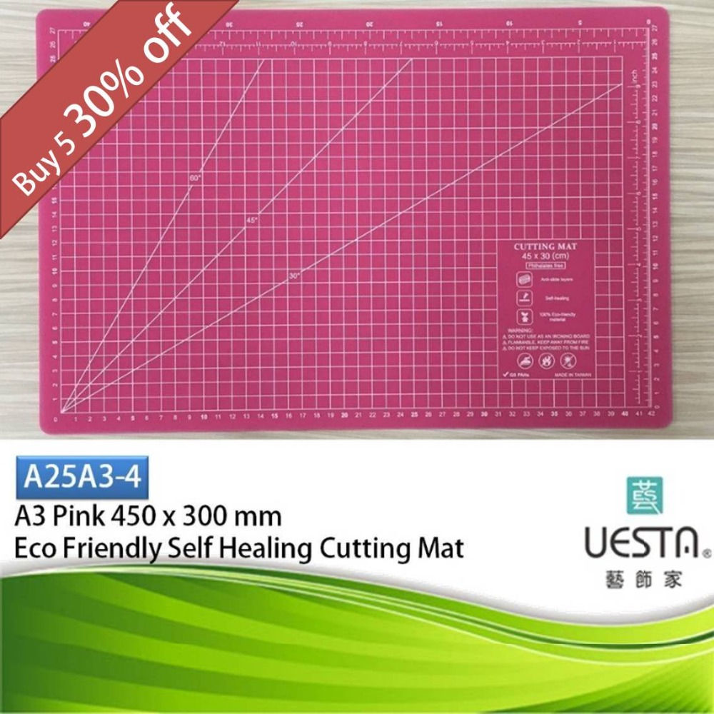 Pink 2.5 mm Rectangle Self Healing Eco Friendly TPE ...