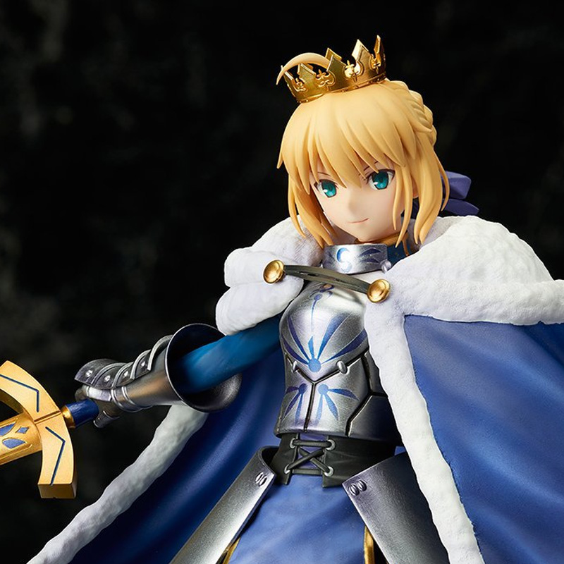 купить ZHAIDIANSHE anime 25cm saber king of knights winter dress PVC action figure  fate stay night  toys gift collectible model toys по цене 4421.69 рублей