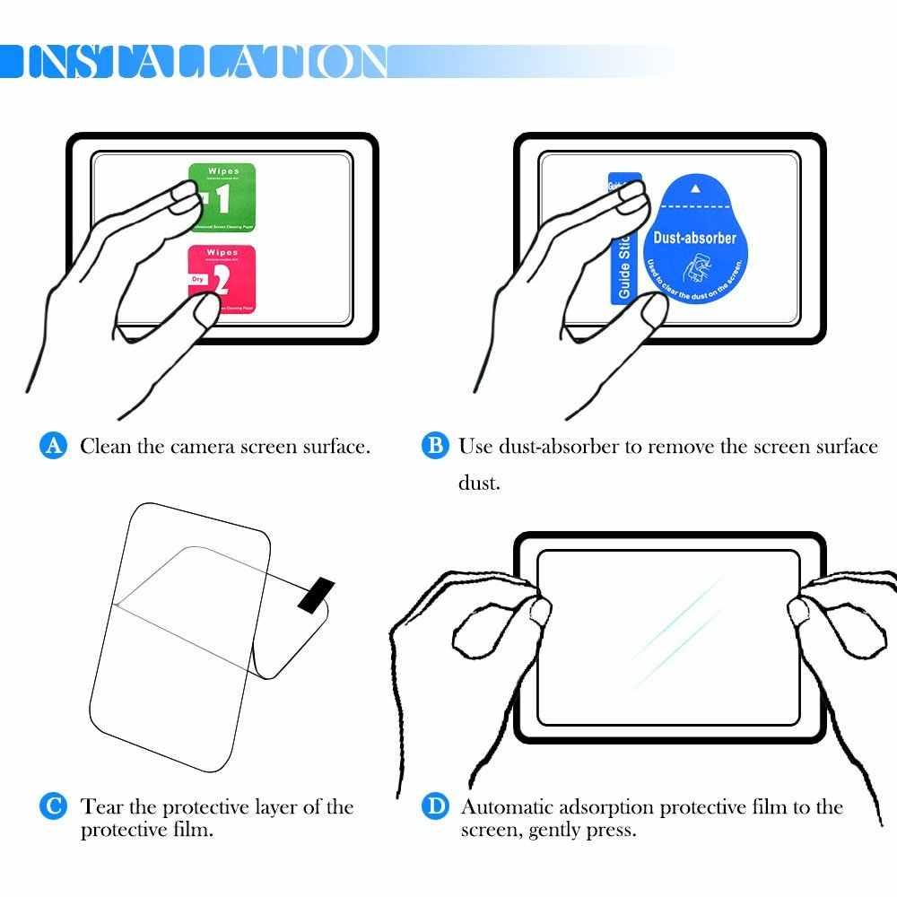 2 حزمة 9H الزجاج المقسى LCD واقي للشاشة لكانون EOS 1500D 2000D المتمردين T7 X90 فوجي فيلم X-A5 XA5 X-A20 XA20 X-T100 XT100