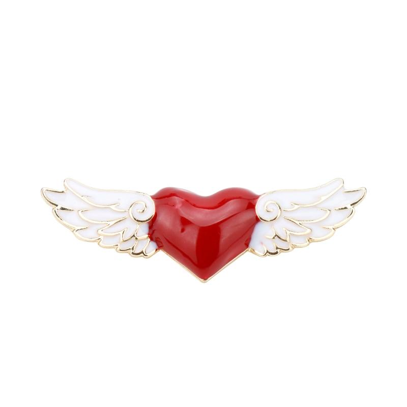 Hot Cardcaptor Sakura Badge Heart Wings Brooch Pins Decor Fashion Accessories 1x