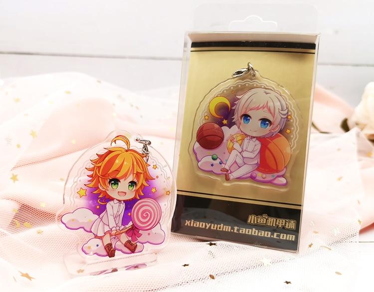 The Promised Neverland Acrylic Keychain Stand Strap Yakusoku No Cosplay Gift