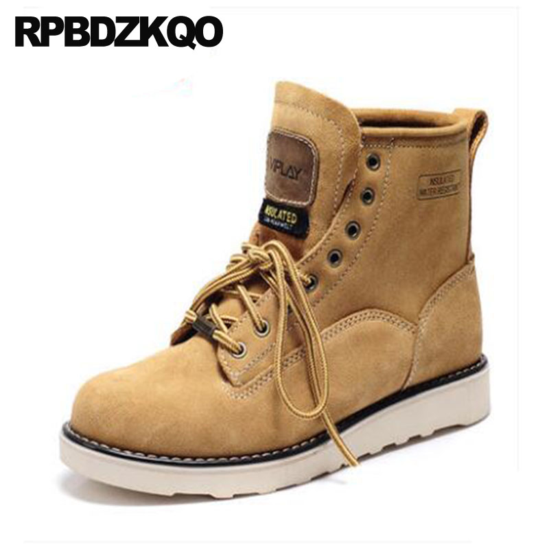 Men Shoes Booties Sneakers Platform Casual Snow Super Warm Winter Boots Russian Style Full Grain Ankle High Top Brown Faux Fur black super warm winter boots russian style full grain men fashion trainer sneakers high top genuine leather booties fur shoes