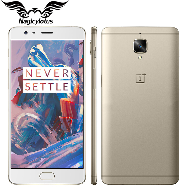"""Nouvelle Version de l'ue Oneplus 3 A3003 6 GB RAM 64 GB ROM téléphone Mobile Snapdragon Quad Core 5.5 """"Android empreinte digitale 4G Smartphone"""
