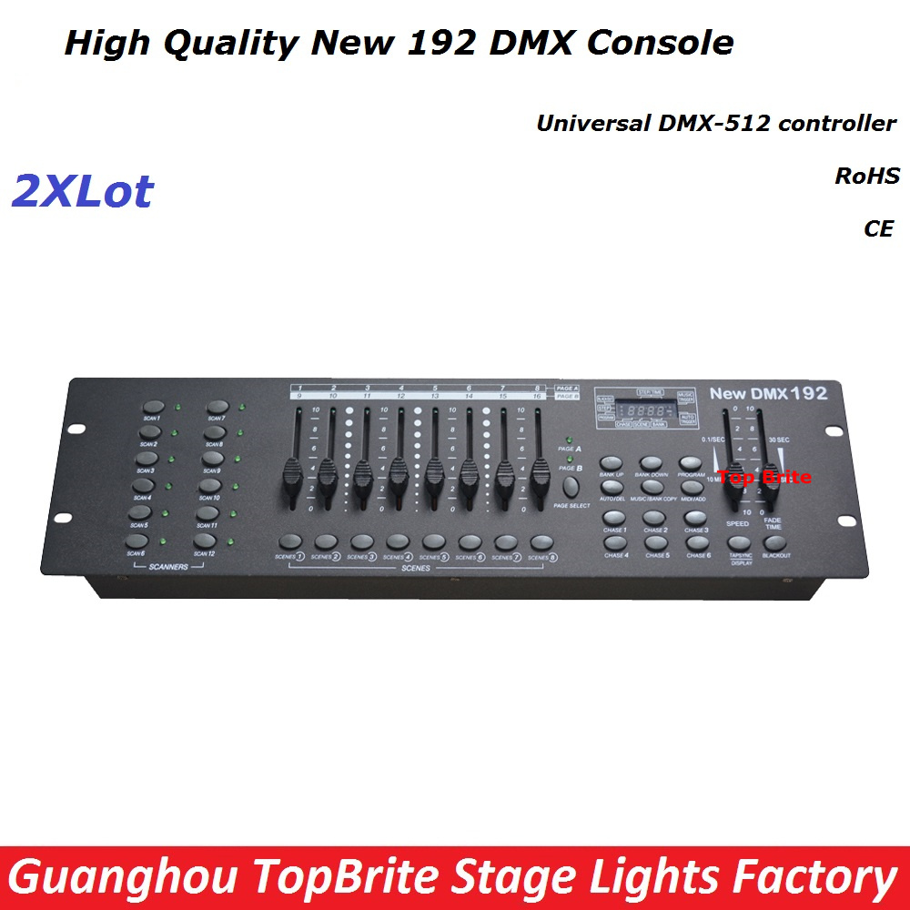 Free Ship 2XLot NEW 192 DMX Controller Stage Lighting DJ Equipment DMX Console For Led Par Moving Head Spotlights Dj Controller dhl free shipping 54ch mini dmx controller console dj console dj controller dj lighting controller 9v battery 12v dc powered