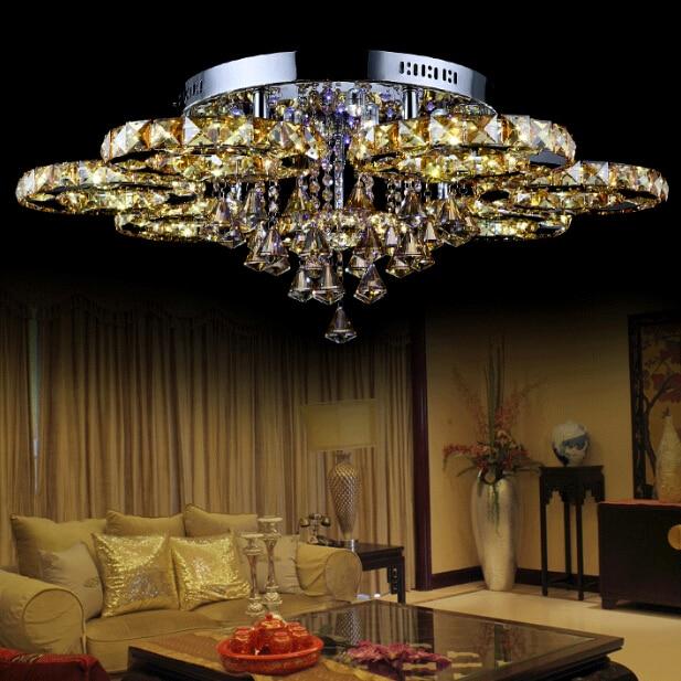 все цены на Modern Crystal Chandelier Led Lighting Fixture Lustre Crystal Lamp Ceiling Pendant Lustres Living Room Bedroom